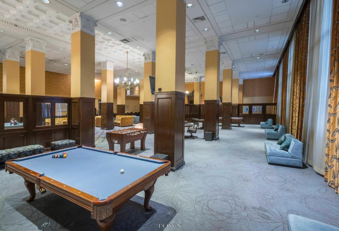 Billiard room at The Crest Lofts - NYC Apartments for rent
