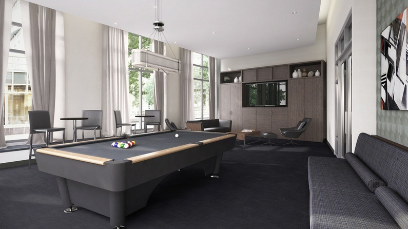Billiard room- The Union condo for rent in Williamsburg