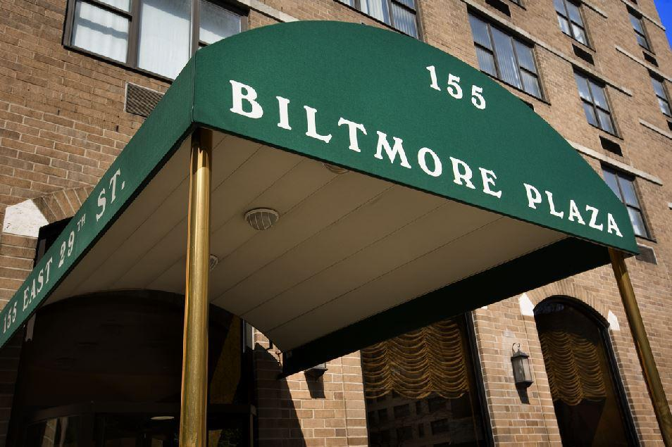 Biltmore Plaza Main Entrance - Midtown East Apartment Rentals