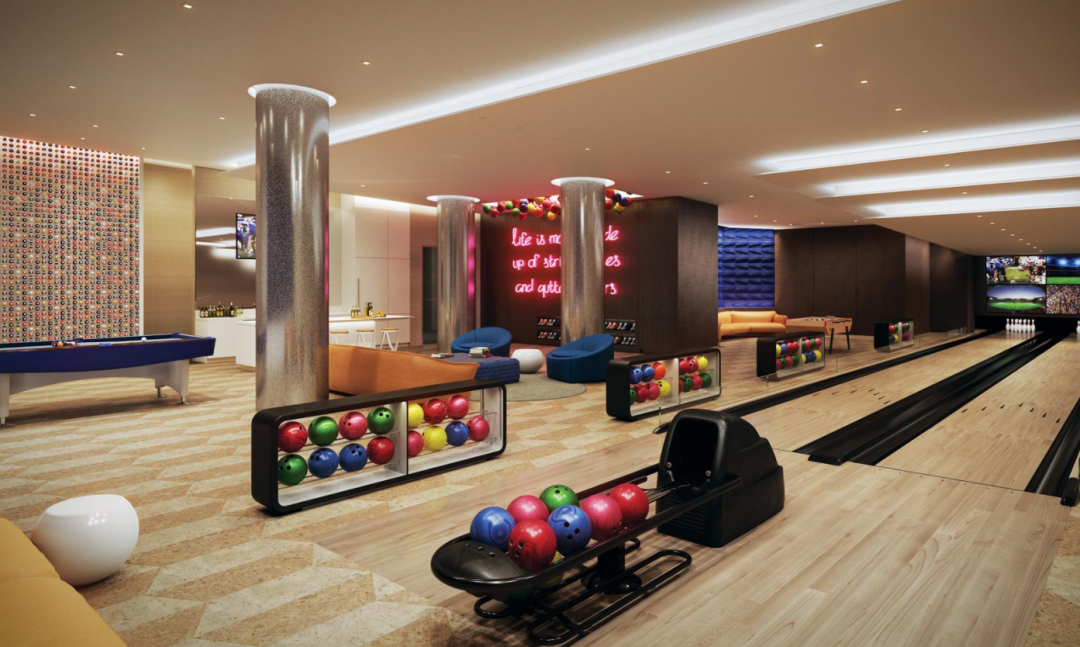 Bowling Alley at One Hudson Yards in Manhattan - Apartments for rent