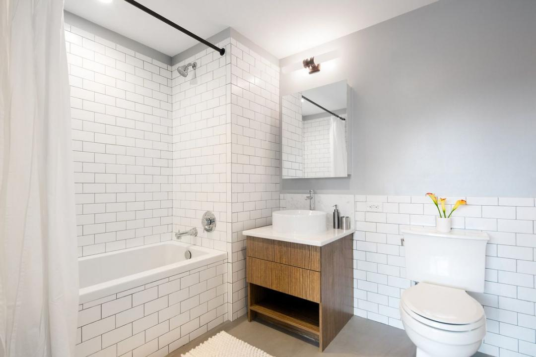 Bathroom at 774 Grand Street in Williamsburg - Apartments for rent