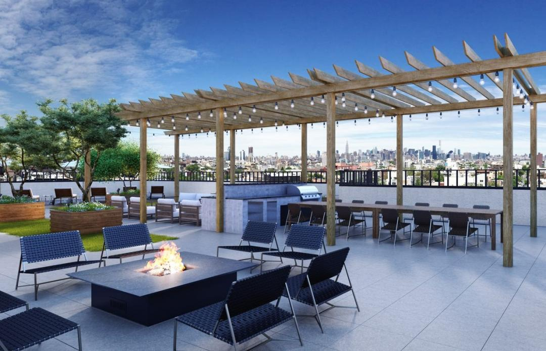 Rooftop Terrace at 774 Grand Street in Brooklyn