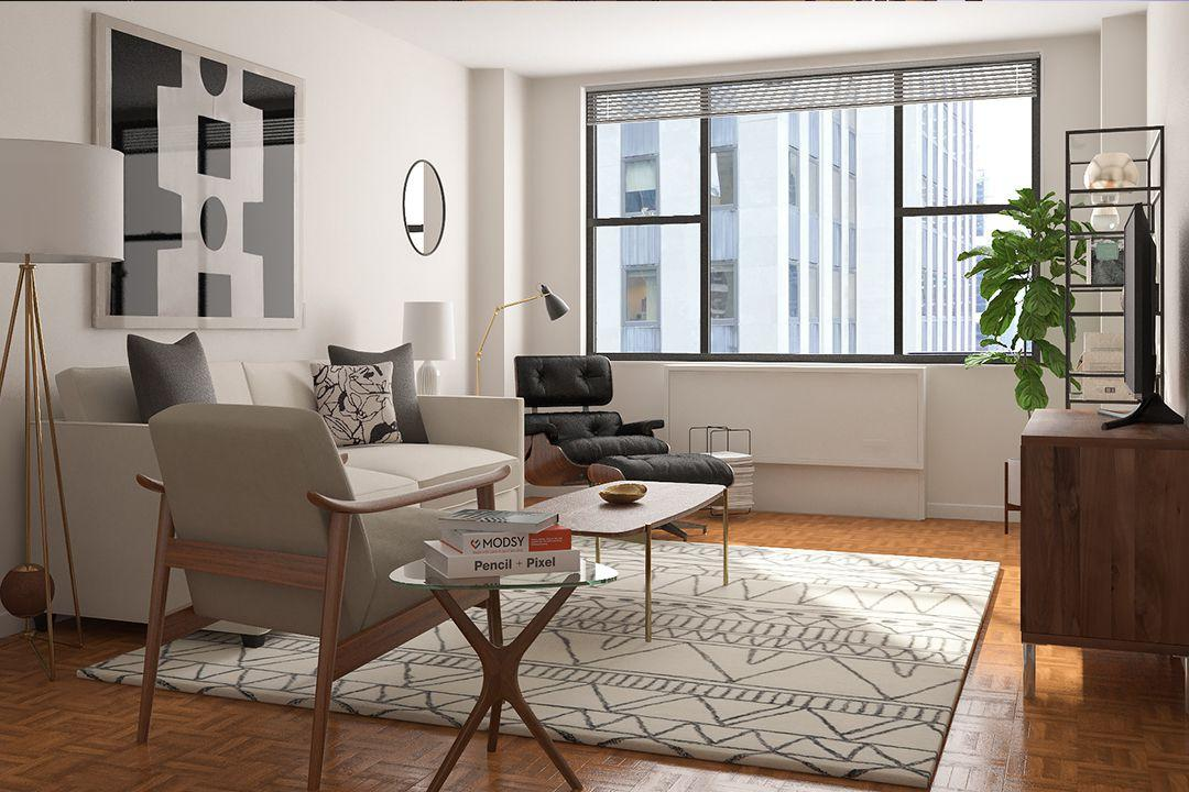 Living Room at Carnegie Mews in NYC - Apartments for rent
