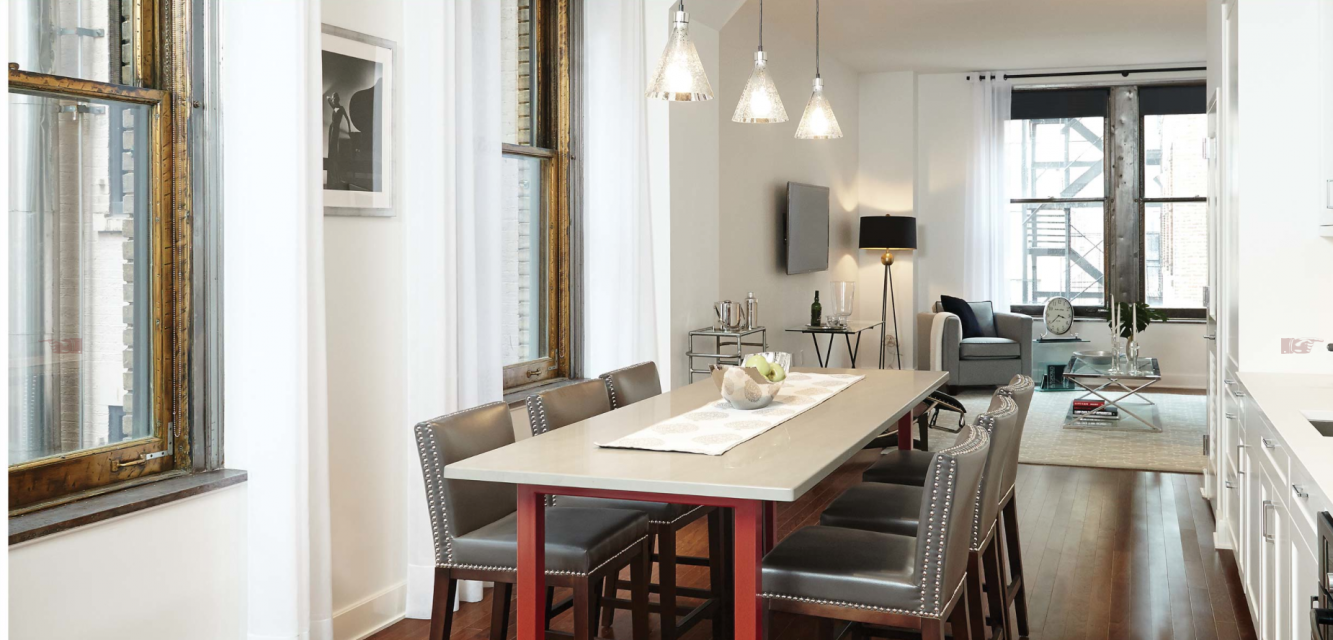 The Centurian 1182 Broadway Luxury Apartments for Sale NYC Dining Room