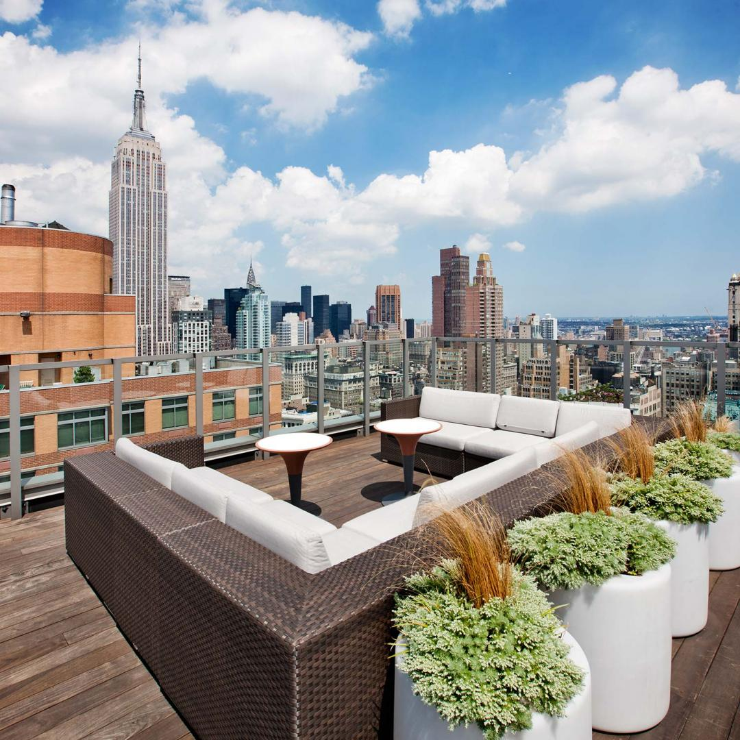 55 West 25th Street Rooftop Patio - NYC Rental Apartments