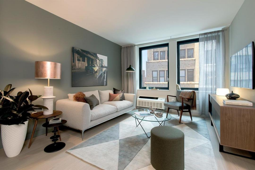 Living Room at Chelsea29 in NYC - Apartments for rent