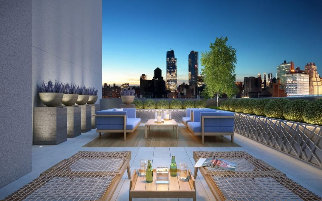 Rentals at 221 West 29th Street in Chelsea - Rooftop Terrace