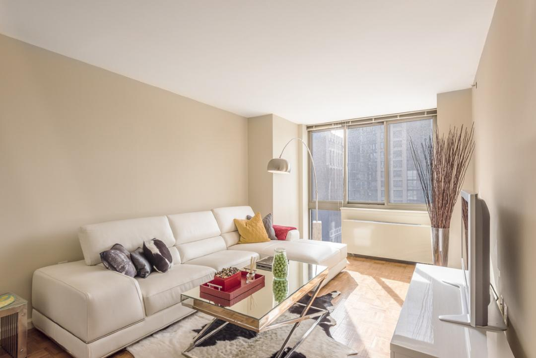Living Room at Chelsea Tower in NYC - Apartments for rent