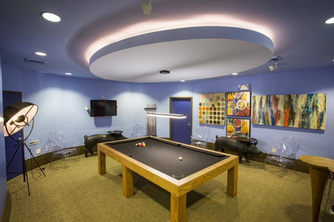 Wide variety of amenities at The Chrystie  - Billiards Room