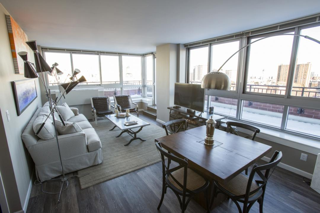 Livingroom at The Chrystie in Manhattan - Condos for rent