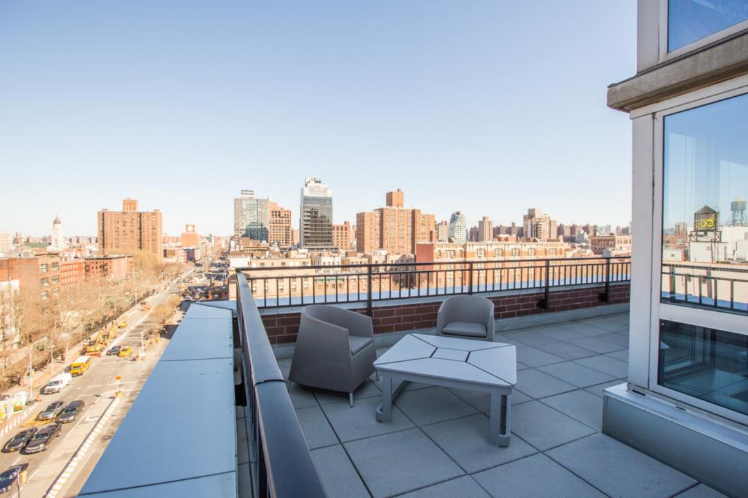 Private Terrace at 229 Chrystie Street in NYC - Condos for rent