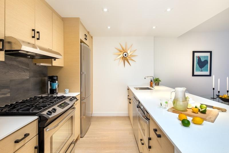 Condos for rent at 15 Cliff Street in NYC - Kitchen