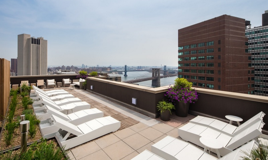 Rooftop Deck at Cliff Tower in NYC - Apartments for rent