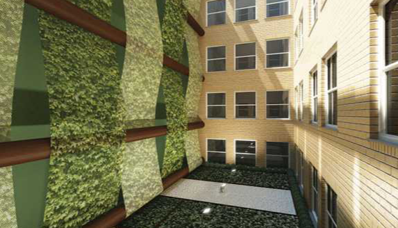 Courtyard - Greenwich Club Residences-88 Greenwich Street