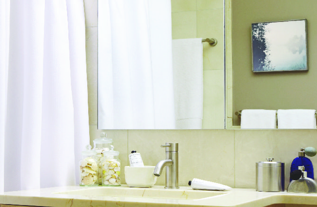 Crystal Green Bathroom - Luxury Apartments for Rent in Midtown West NYC