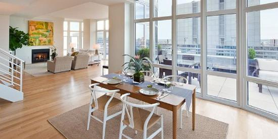 Element Condominium New Construction Building Dining Area – NYC Condos