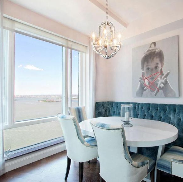 Dining Area at 70 Little West Street - Luxury Rentals