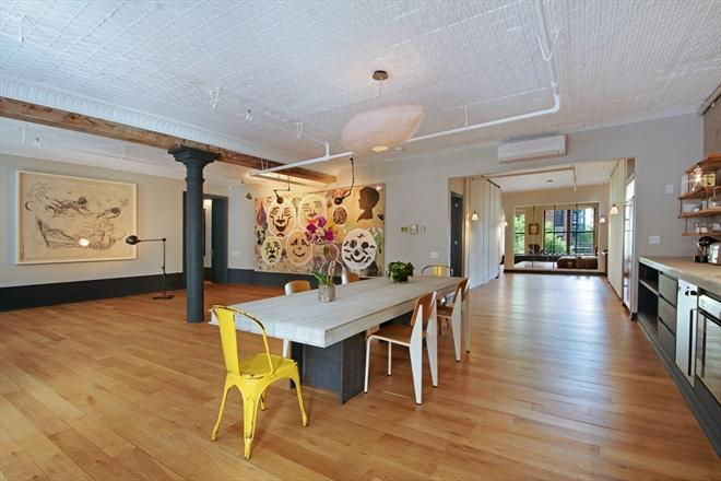 Dining Room Loft Style 27 Bleecker Street Apartment for Rent