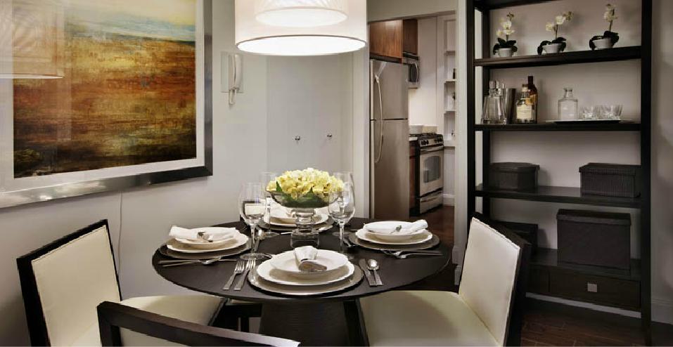 Dining Room in the Wimbledon, Upper East Side Rental Building