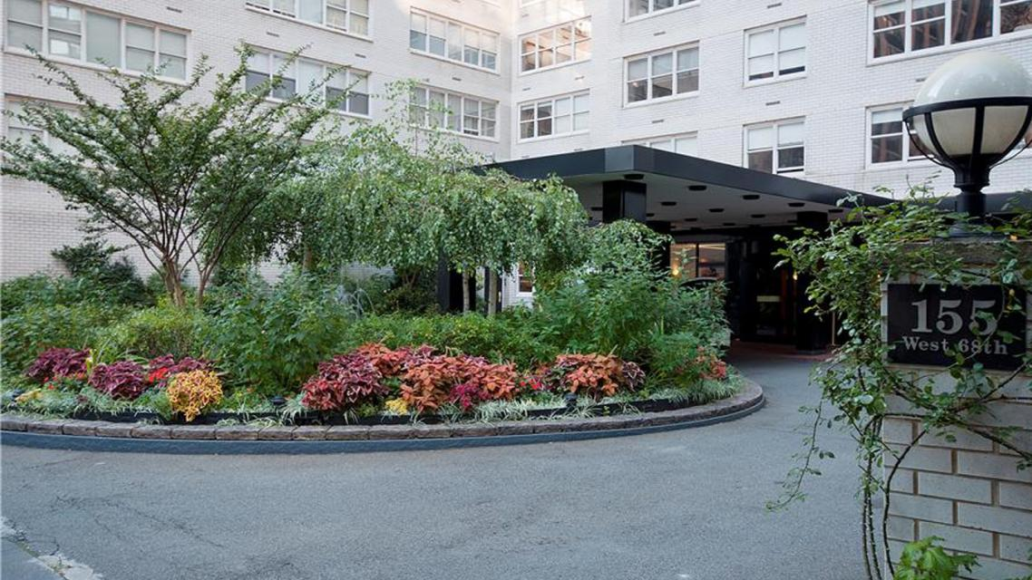 Entrance at Dorchester Towers - 155 West 68th Street
