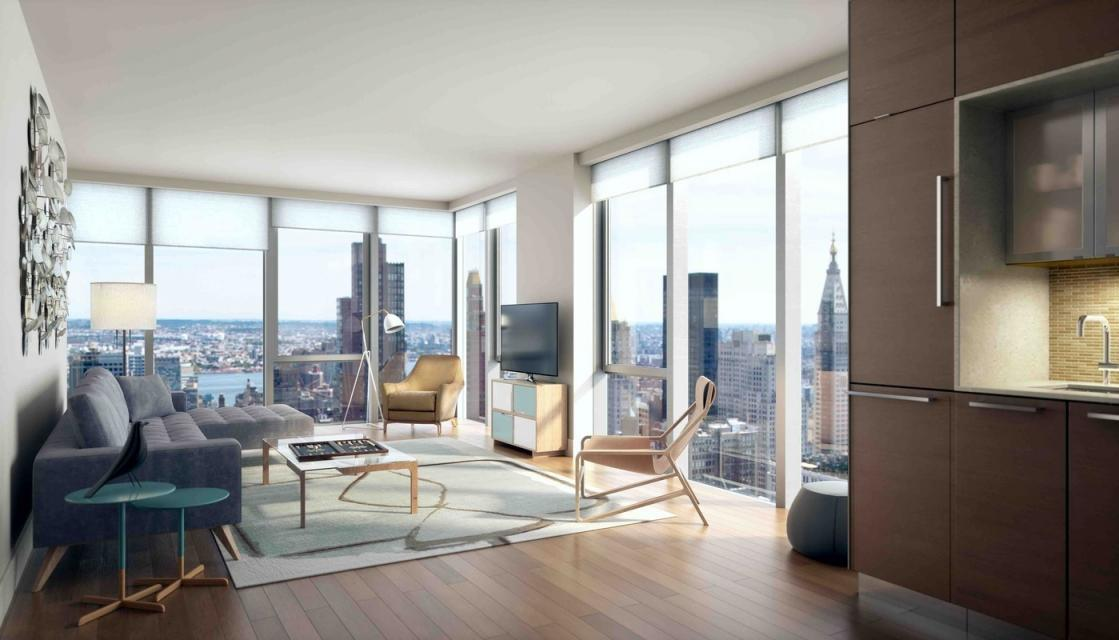 Living Room at EOS in Chelsea - Condos for rent