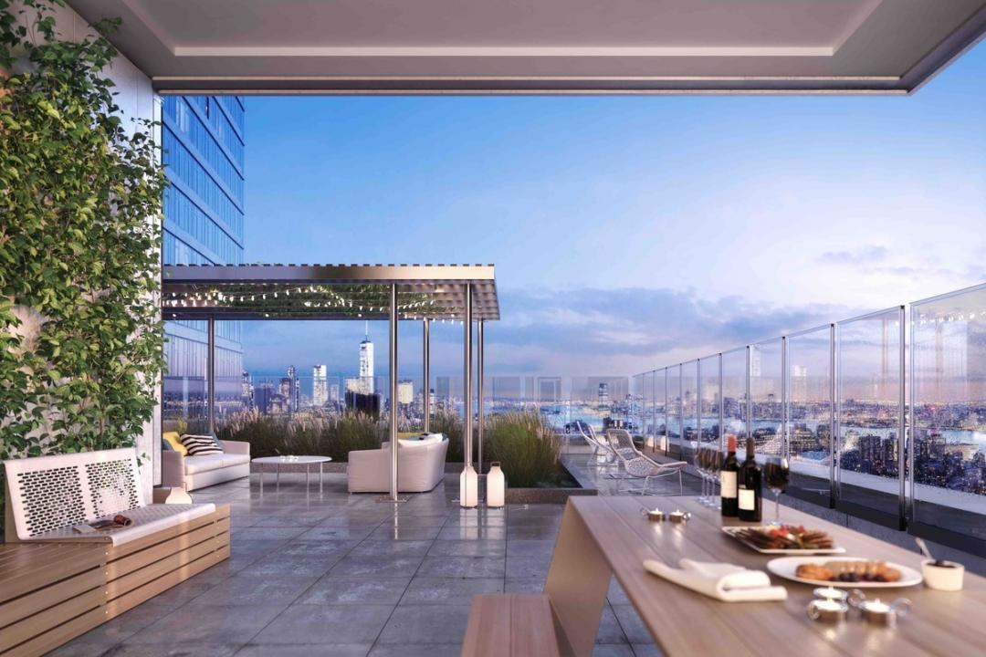 Rooftop Deck at EOS in NYC - Condos for rent