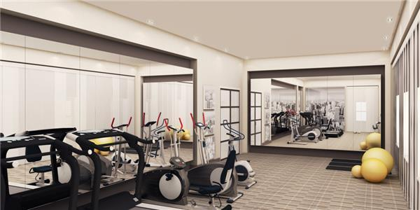 Fitness Center in Building in Clinton, Manhattan