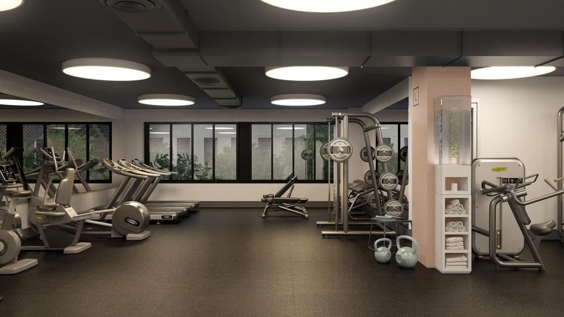 Fitness Room at The Lindley - 591 Third Avenue