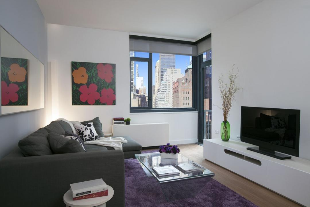 Living Room at 200 East 39th Street in Murray Hill