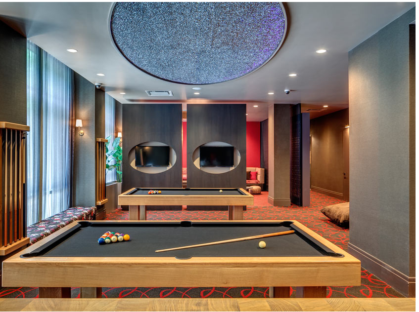Game Room Area at 101 Bedford Avenue