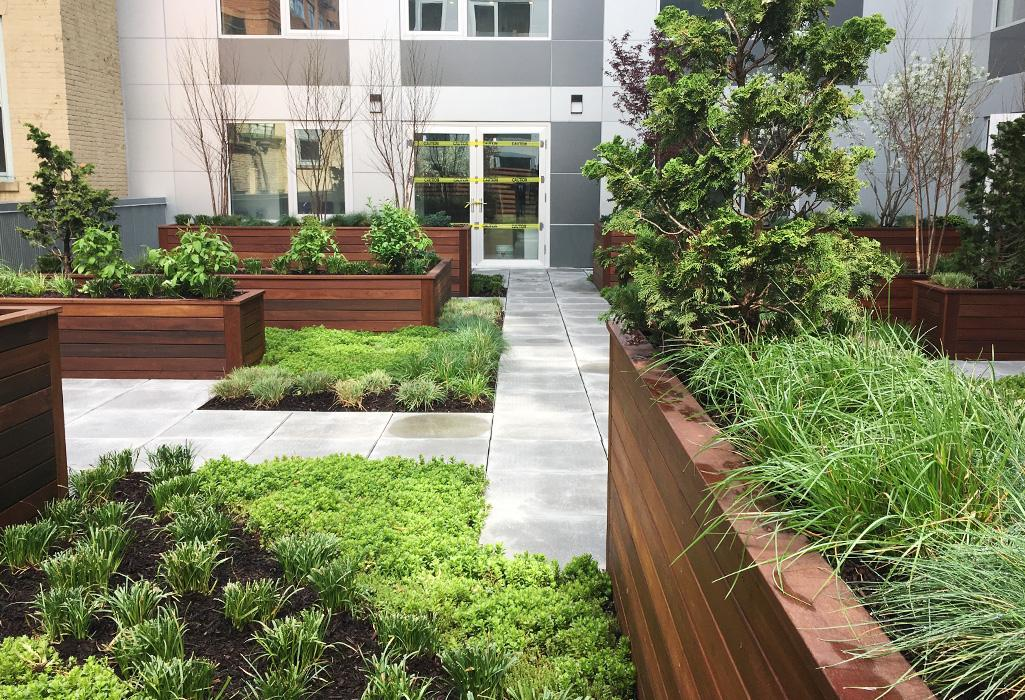 Garden terrace at 241 Atlantic Avenue