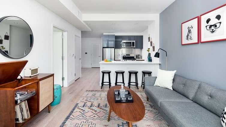 Living Area at Harlem 125 in NYC - Apartments for rent