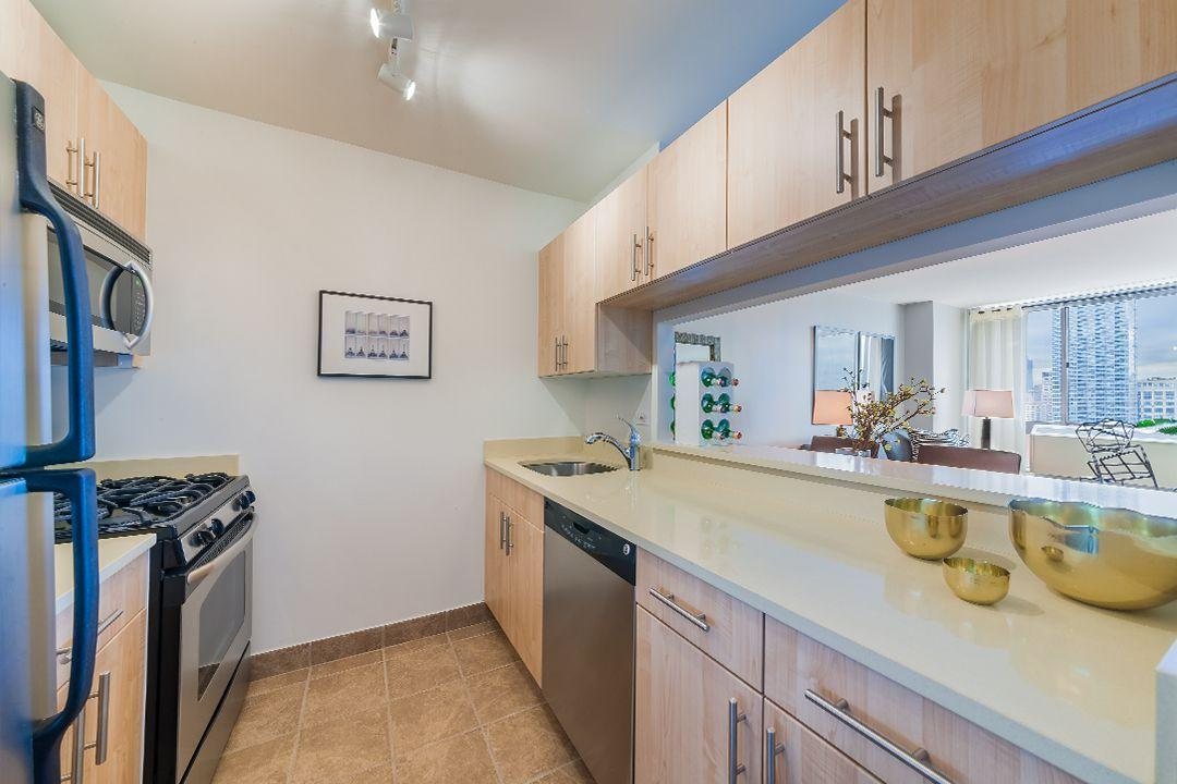 Rentals at 520 West 43rd Street in Manhattan - Open Kitchen