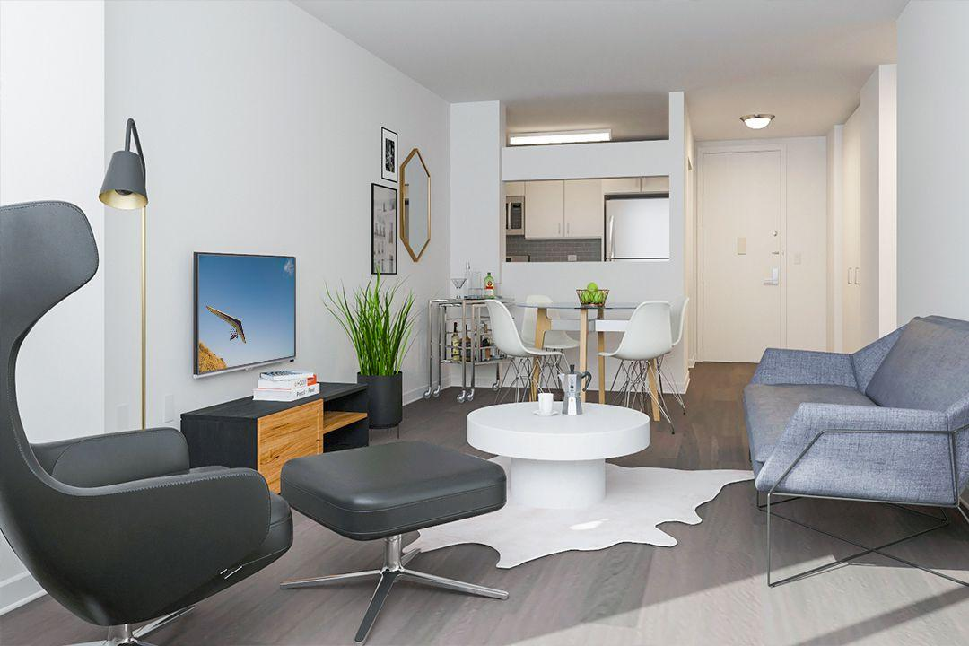 Apartments for rent at 520 West 43rd Street in NYC - Living Area