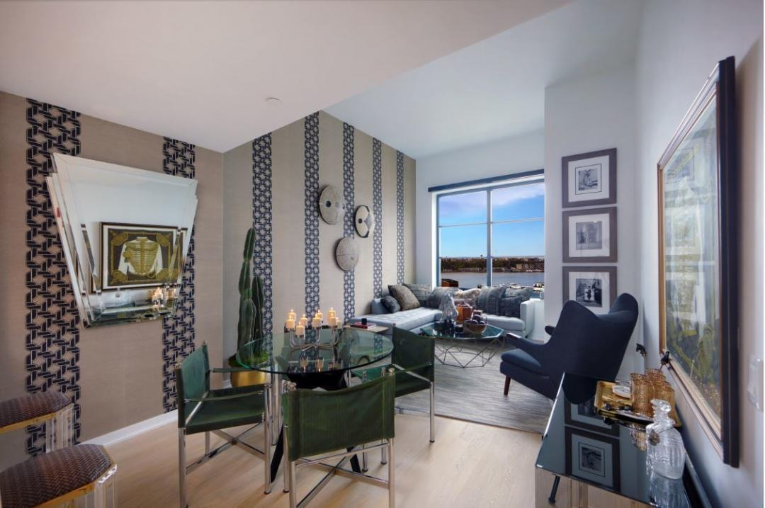 Living Room at 515 West 38th Street in Hudson Yards