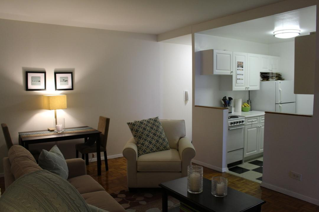 Living Room at Herald Towers in NYC - Apartments for rent