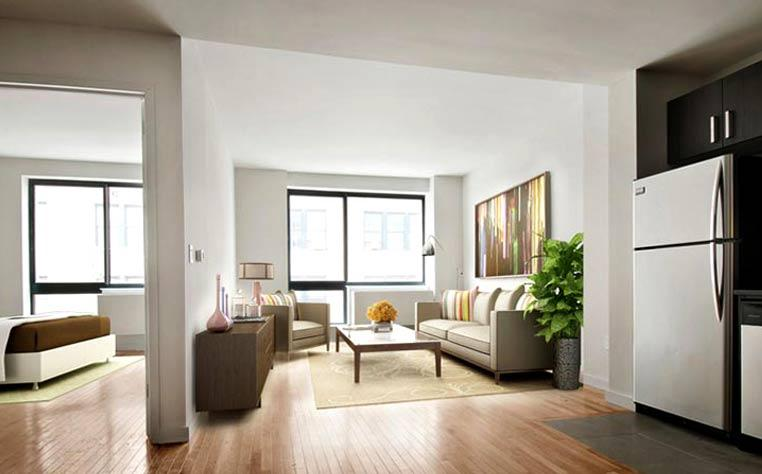 Living Room at 537 West 27th Street in NYC - Apartments for rent