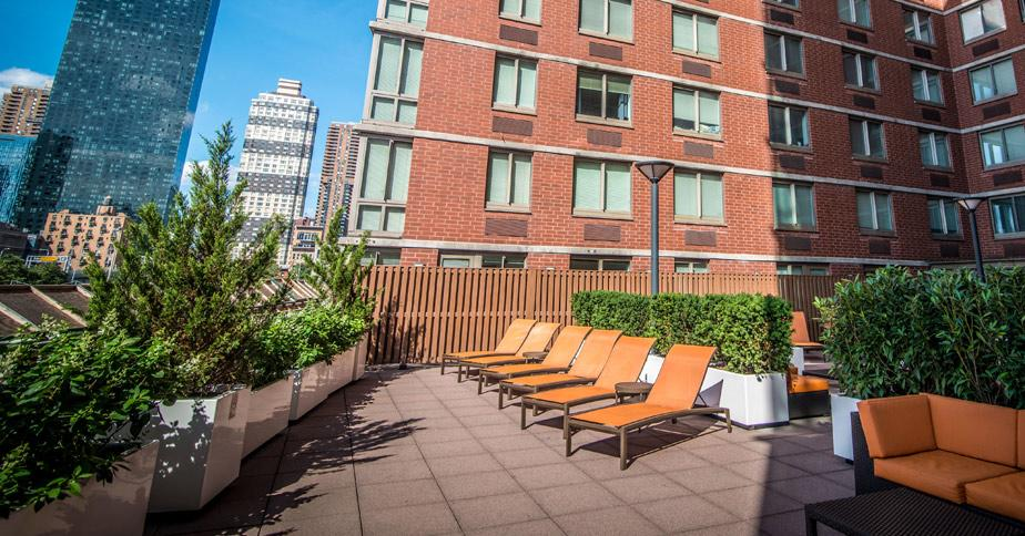 Rooftop Deck at 400 West 37th Street in Manhattan