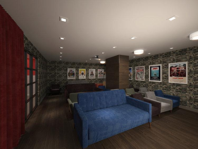 Screening Room at Huis24 in NYC - Apartments for rent