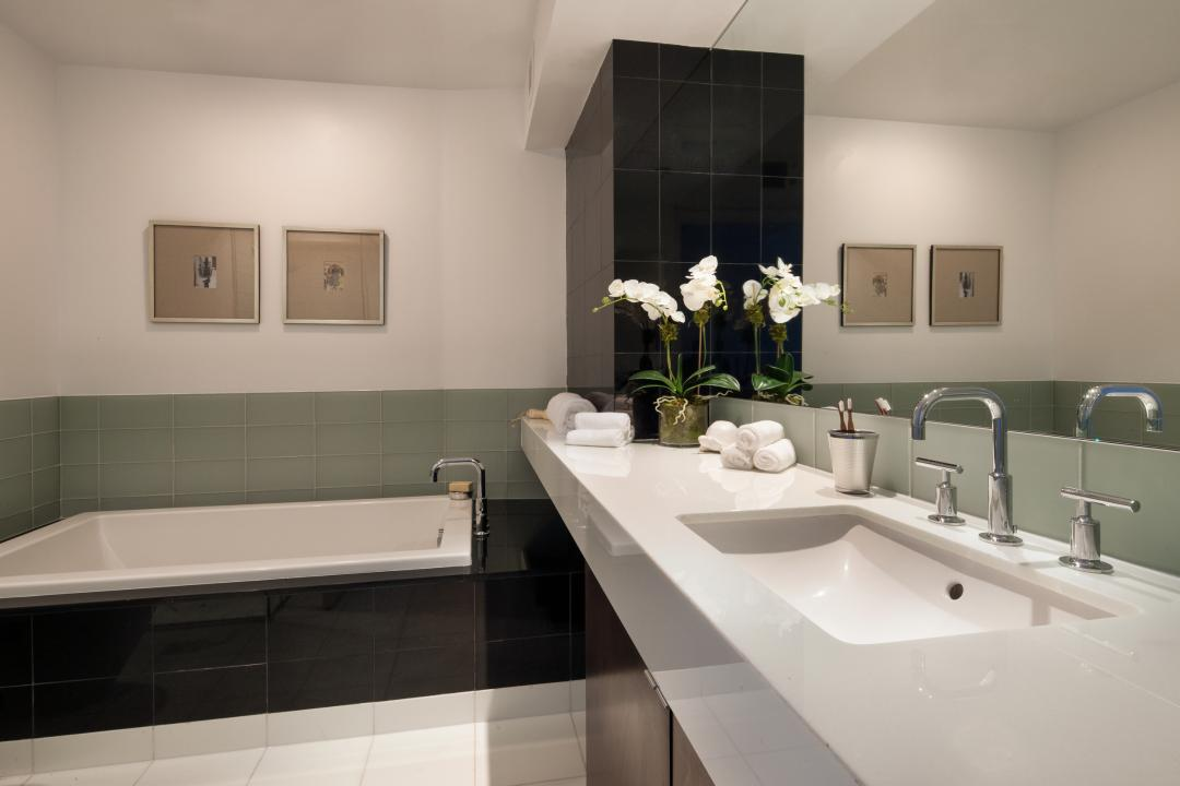 Bathroom at 306 West 48th Street - Clinton Luxury Rentals