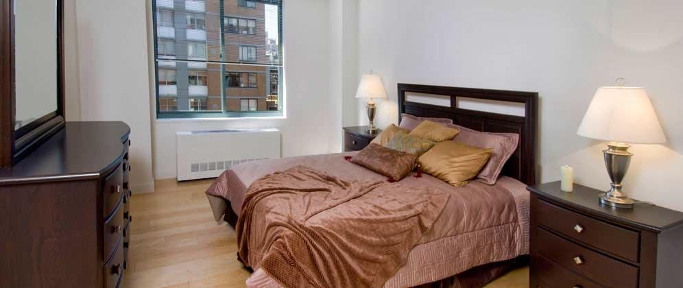 Bedroom of rental apartments at 750 Columbus Avenue