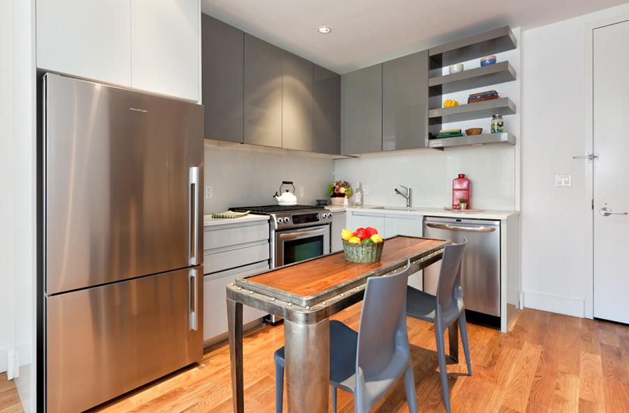 Kitchen at the Yard with Stainless Steel Appliances, Long Island City