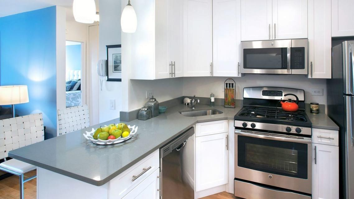 Kitchen at 365 South End Avenue