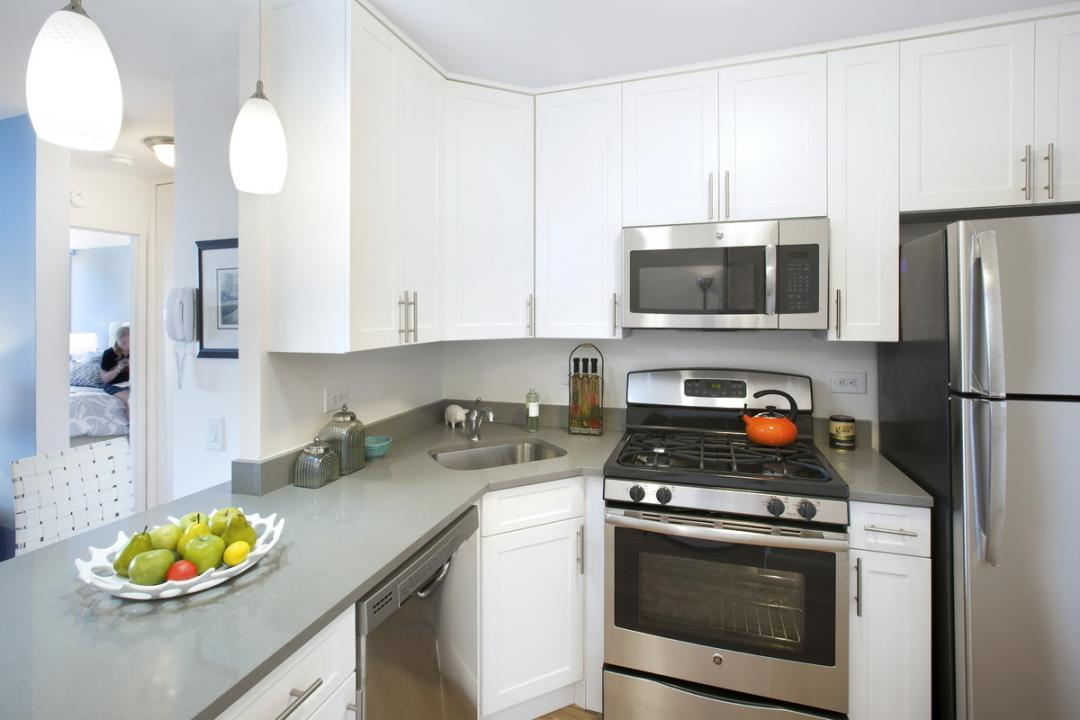 Kitchen at Gateway Plaza - 395 South End Avenue
