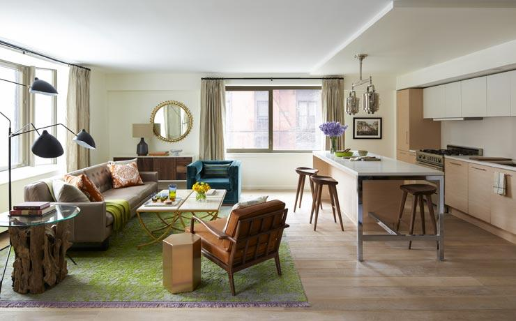 Kitchen, Living Room- 101 West 87th Street-apartments for rent in nyc