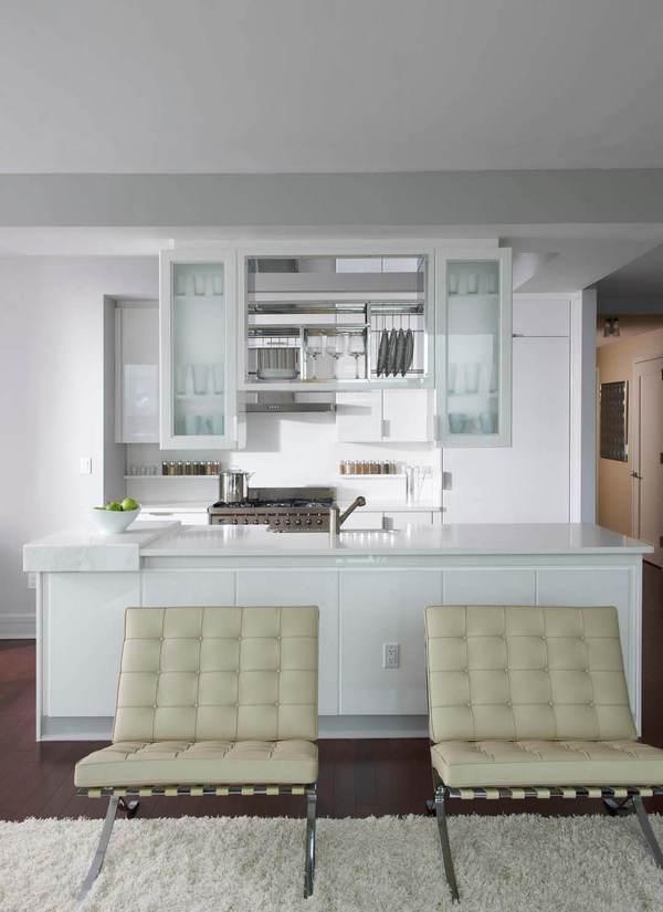 Kitchen and Living Room - 60 Riverside Boulevard Rentals