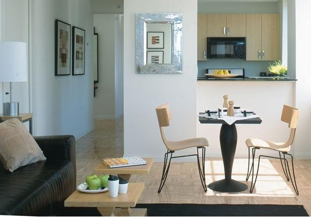 Kitchen and Living Room - Luxury Rentals in Clinton - The Victory