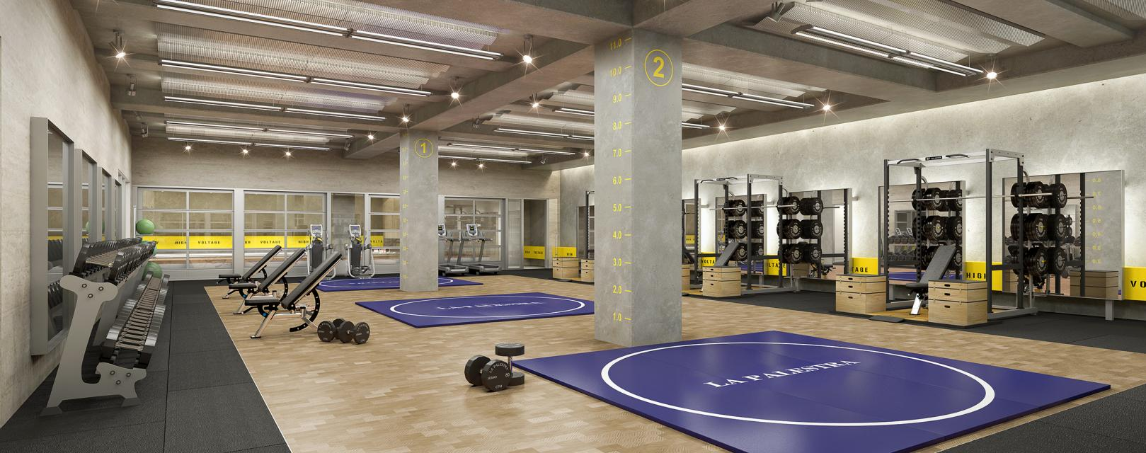 LA PALESTRA Fitness and Wellness Center inside the buliding at 70 Pine Street