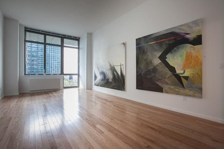 Living Room- 4610 Center Boulevard- NYC condos for rent