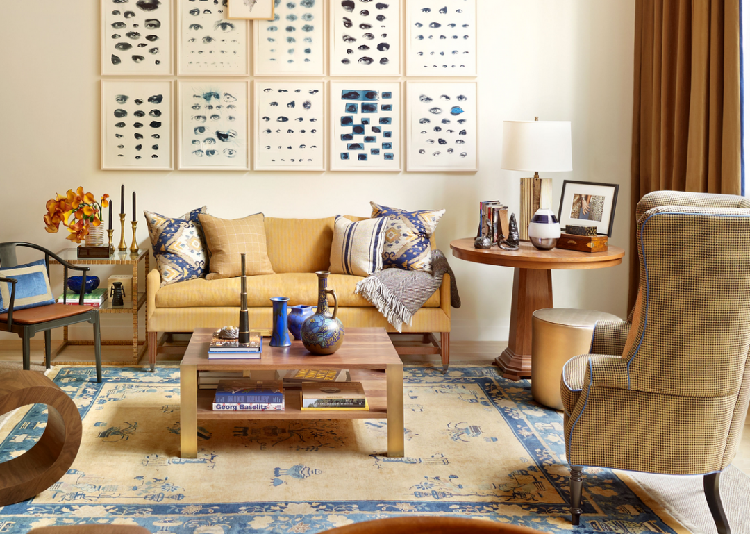 Living Room- Luxury Rentals at Printing House